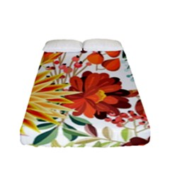 Autumn Flowers Pattern 1 Fitted Sheet (full/ Double Size) by tarastyle