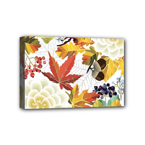 Autumn Flowers Pattern 3 Mini Canvas 6  X 4  by tarastyle