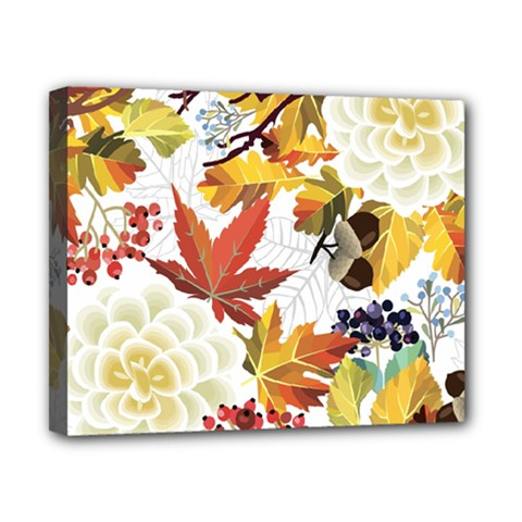 Autumn Flowers Pattern 3 Canvas 10  X 8  by tarastyle