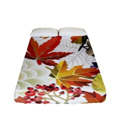 Autumn Flowers Pattern 3 Fitted Sheet (full/ Double Size) by tarastyle