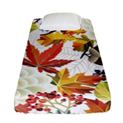 Autumn Flowers Pattern 3 Fitted Sheet (single Size) by tarastyle