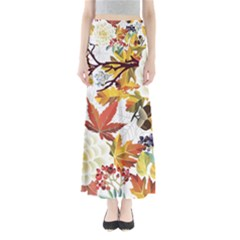 Autumn Flowers Pattern 3 Full Length Maxi Skirt by tarastyle