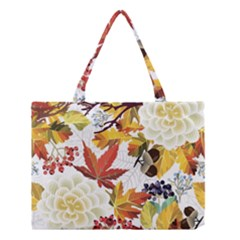 Autumn Flowers Pattern 3 Medium Tote Bag by tarastyle