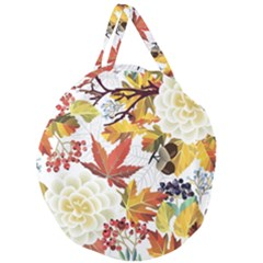 Autumn Flowers Pattern 3 Giant Round Zipper Tote by tarastyle