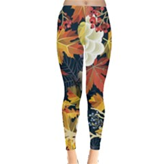 Autumn Flowers Pattern 4 Leggings  by tarastyle