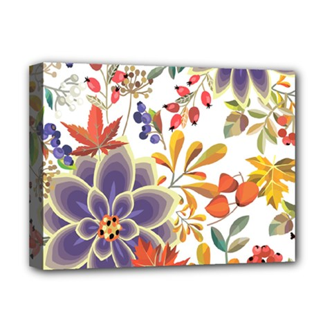 Autumn Flowers Pattern 5 Deluxe Canvas 16  X 12   by tarastyle