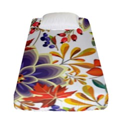 Autumn Flowers Pattern 5 Fitted Sheet (single Size) by tarastyle