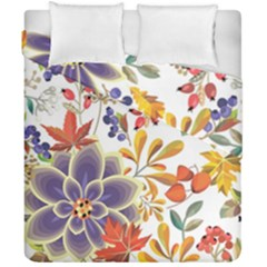 Autumn Flowers Pattern 5 Duvet Cover Double Side (california King Size) by tarastyle