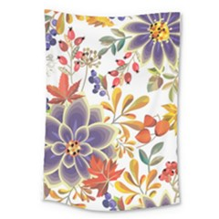 Autumn Flowers Pattern 5 Large Tapestry by tarastyle