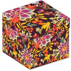 Autumn Flowers Pattern 6 Storage Stool 12   by tarastyle