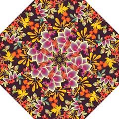 Autumn Flowers Pattern 6 Folding Umbrellas by tarastyle