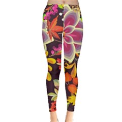 Autumn Flowers Pattern 6 Leggings  by tarastyle