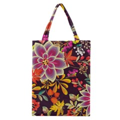 Autumn Flowers Pattern 6 Classic Tote Bag by tarastyle