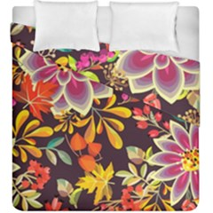 Autumn Flowers Pattern 6 Duvet Cover Double Side (king Size) by tarastyle