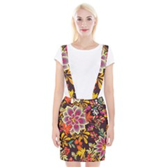 Autumn Flowers Pattern 6 Braces Suspender Skirt by tarastyle