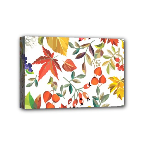 Autumn Flowers Pattern 7 Mini Canvas 6  X 4  by tarastyle