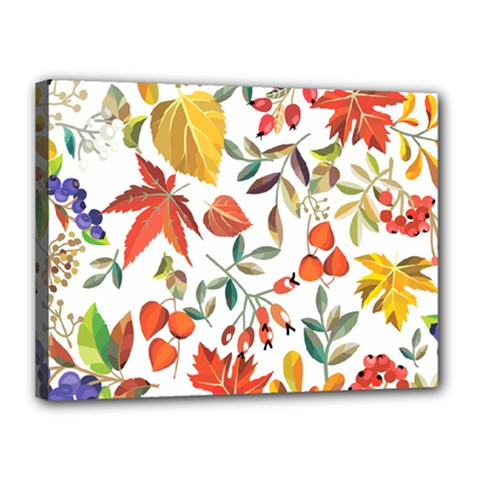 Autumn Flowers Pattern 7 Canvas 16  X 12  by tarastyle