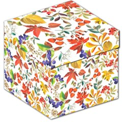 Autumn Flowers Pattern 7 Storage Stool 12   by tarastyle