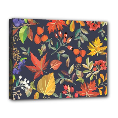 Autumn Flowers Pattern 8 Canvas 14  X 11  by tarastyle