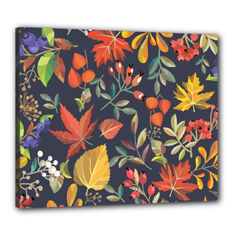 Autumn Flowers Pattern 8 Canvas 24  X 20  by tarastyle