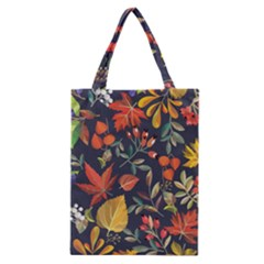 Autumn Flowers Pattern 8 Classic Tote Bag by tarastyle