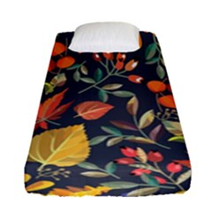 Autumn Flowers Pattern 8 Fitted Sheet (single Size) by tarastyle
