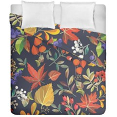 Autumn Flowers Pattern 8 Duvet Cover Double Side (california King Size) by tarastyle