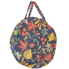 Autumn Flowers Pattern 8 Giant Round Zipper Tote by tarastyle