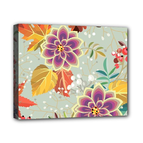 Autumn Flowers Pattern 9 Canvas 10  X 8  by tarastyle