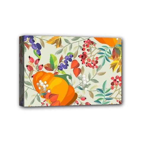 Autumn Flowers Pattern 11 Mini Canvas 6  X 4  by tarastyle