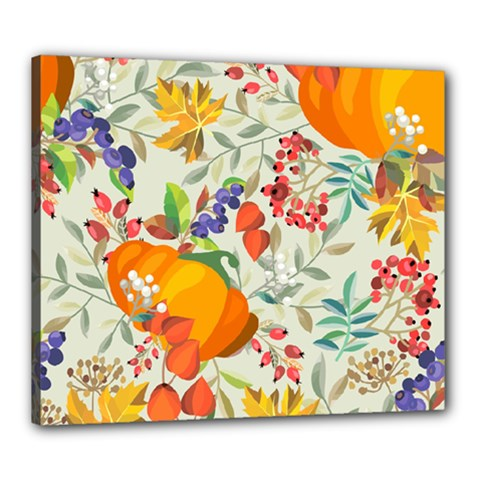 Autumn Flowers Pattern 11 Canvas 24  X 20  by tarastyle