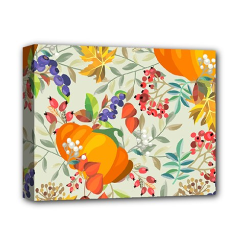 Autumn Flowers Pattern 11 Deluxe Canvas 14  X 11  by tarastyle