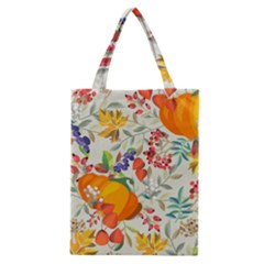 Autumn Flowers Pattern 11 Classic Tote Bag by tarastyle