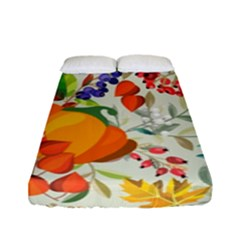 Autumn Flowers Pattern 11 Fitted Sheet (full/ Double Size) by tarastyle