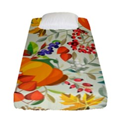 Autumn Flowers Pattern 11 Fitted Sheet (single Size) by tarastyle