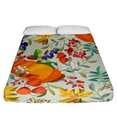 Autumn Flowers Pattern 11 Fitted Sheet (california King Size) by tarastyle