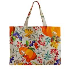 Autumn Flowers Pattern 11 Zipper Mini Tote Bag by tarastyle