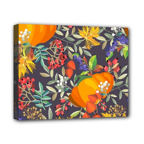 Autumn Flowers Pattern 12 Canvas 10  X 8  by tarastyle