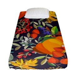 Autumn Flowers Pattern 12 Fitted Sheet (single Size) by tarastyle