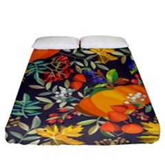 Autumn Flowers Pattern 12 Fitted Sheet (california King Size) by tarastyle