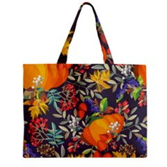 Autumn Flowers Pattern 12 Zipper Mini Tote Bag by tarastyle