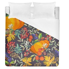Autumn Flowers Pattern 12 Duvet Cover (queen Size) by tarastyle