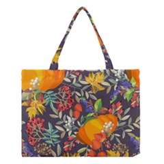 Autumn Flowers Pattern 12 Medium Tote Bag by tarastyle