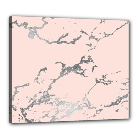Luxurious Pink Marble 1 Canvas 24  X 20  by tarastyle