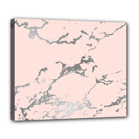 Luxurious Pink Marble 1 Deluxe Canvas 24  X 20   by tarastyle