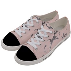 Luxurious Pink Marble 1 Women s Low Top Canvas Sneakers by tarastyle