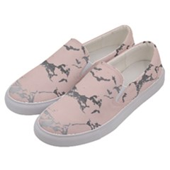 Luxurious Pink Marble 1 Men s Canvas Slip Ons by tarastyle