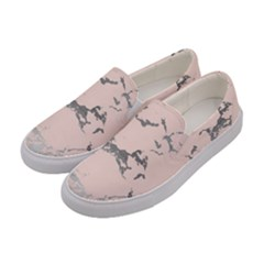 Luxurious Pink Marble 1 Women s Canvas Slip Ons by tarastyle