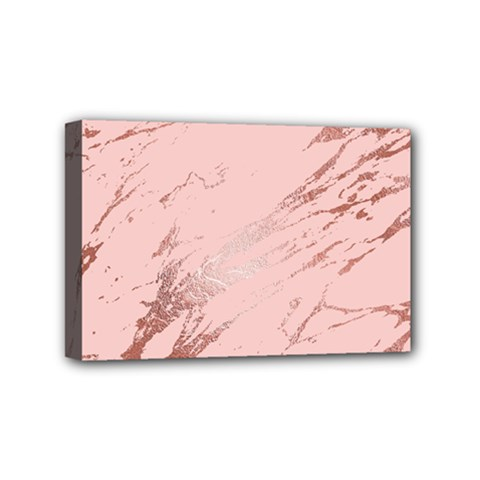 Luxurious Pink Marble 3 Mini Canvas 6  X 4  by tarastyle