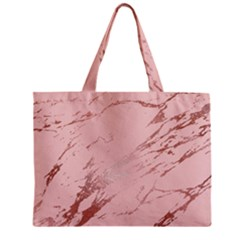 Luxurious Pink Marble 3 Zipper Mini Tote Bag by tarastyle